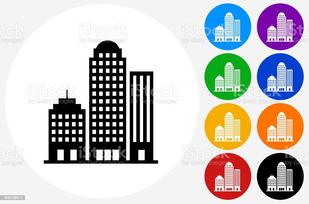 Office Buildings. vector art illustration