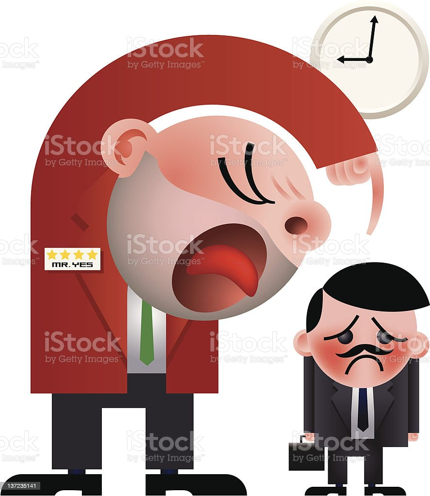 Office bully royalty-free stock vector art