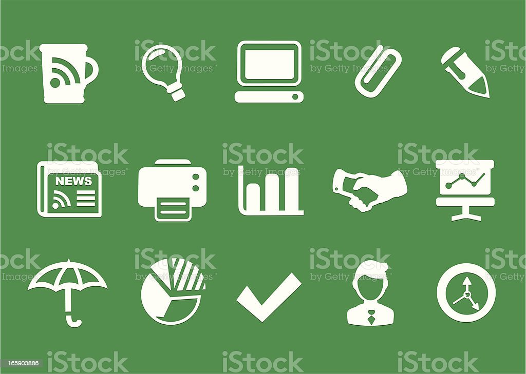 Office, Business Icons vector art illustration