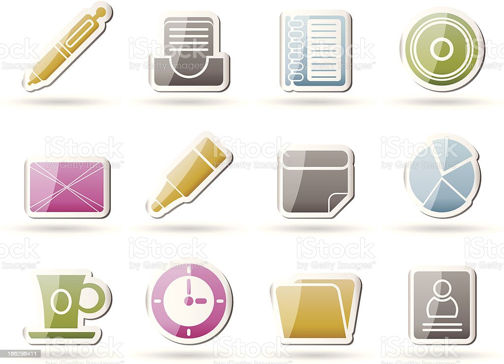 Office & Business Icons royalty-free stock vector art