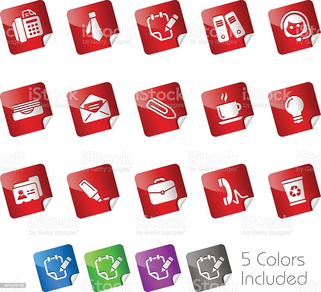 Office & Business // Stickers Series office business stickers series – cliparts vectoriels et plus d'images de affaires libre de droits