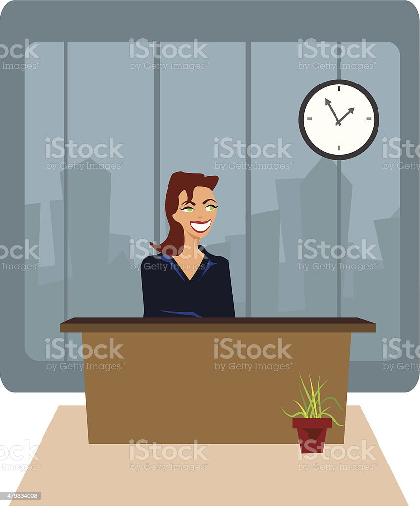 Office business woman royalty-free stock vector art