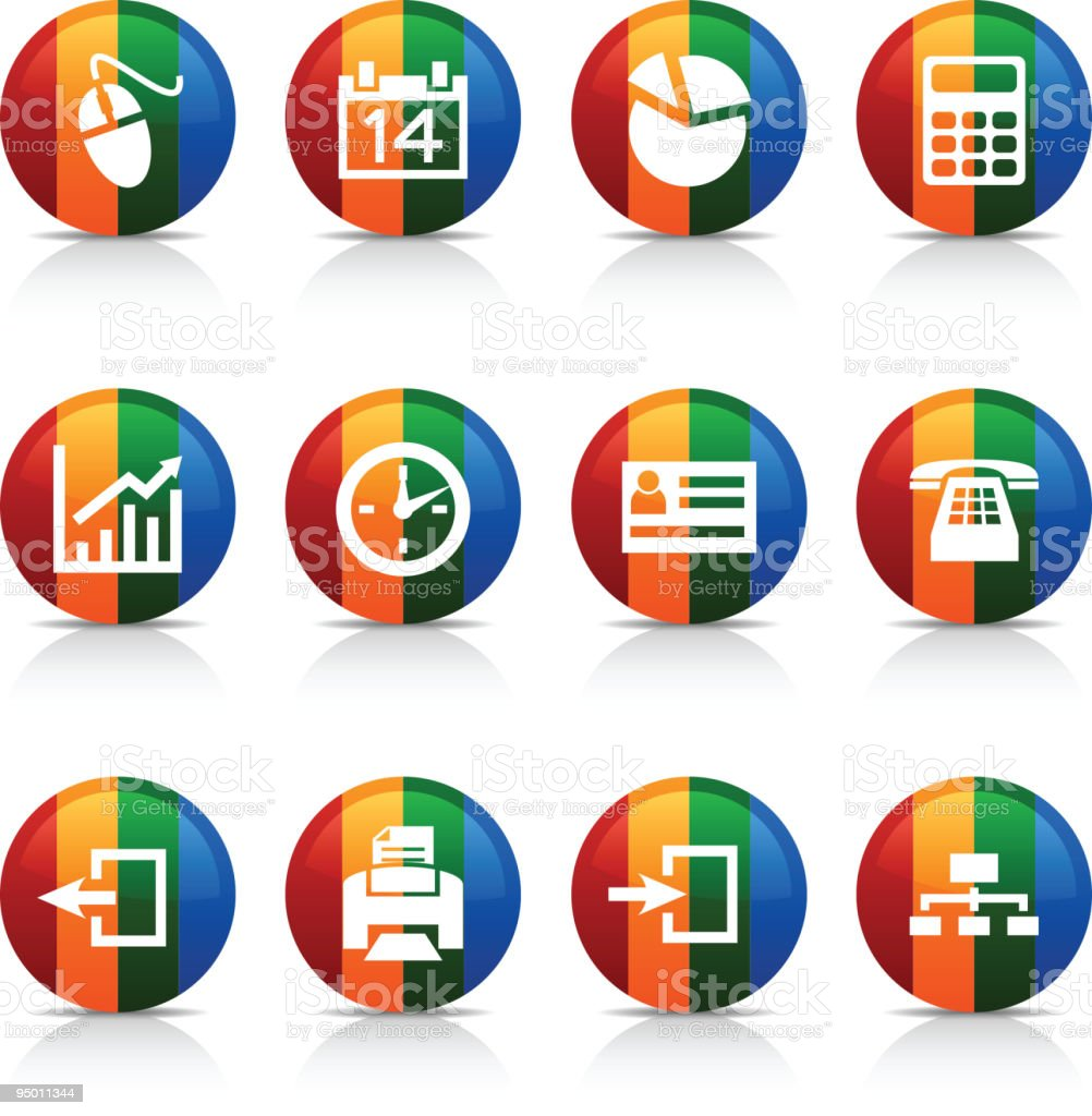 Office   buttons. royalty-free office buttons stock vector art & more images of badge