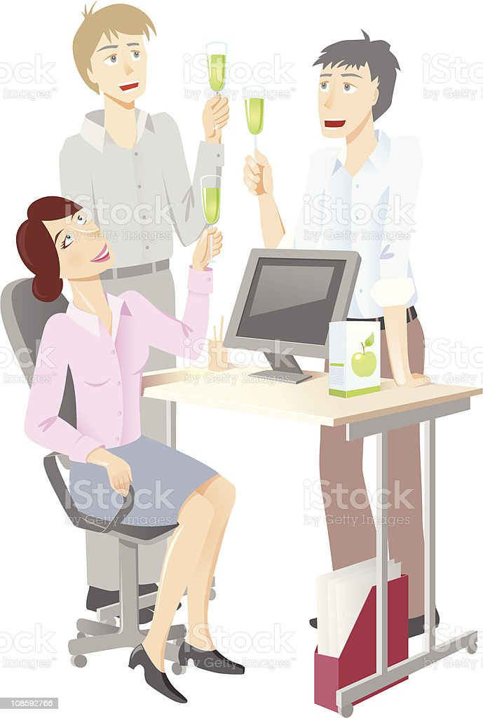 office celebration royalty-free stock vector art