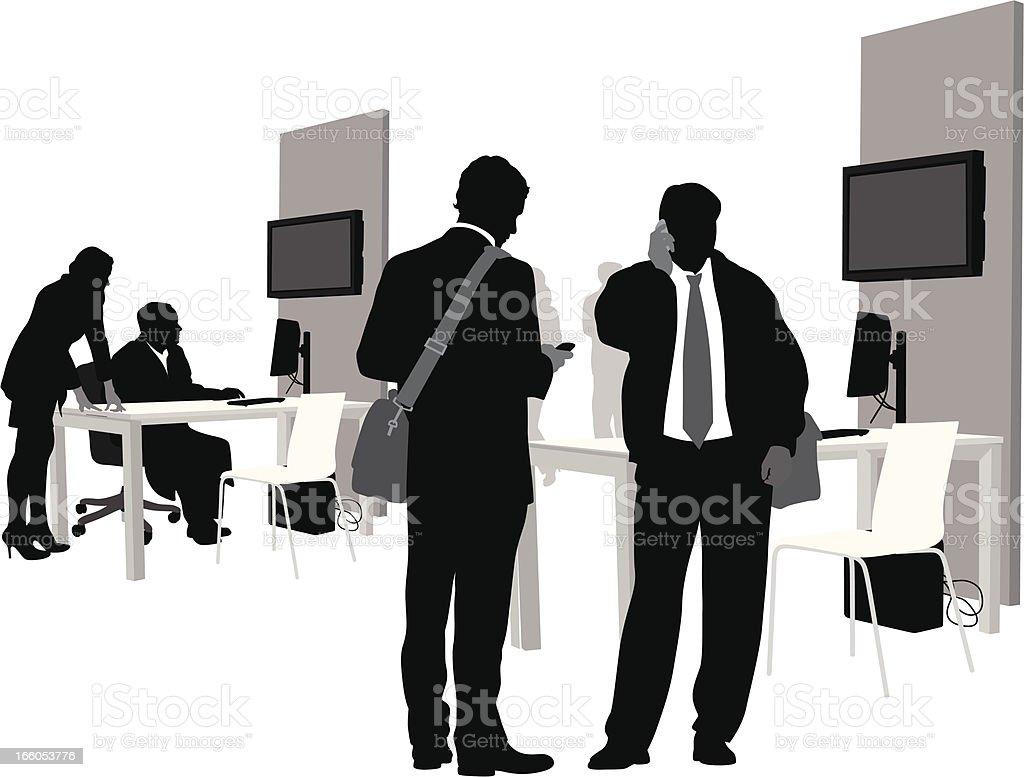 Office Celluse vector art illustration