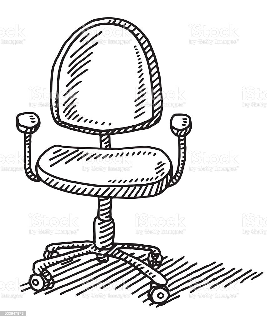 Bürostuhl skizze  Bürostuhl Zeichnung Stock Vektor Art und mehr Bilder von Ausgemalte ...