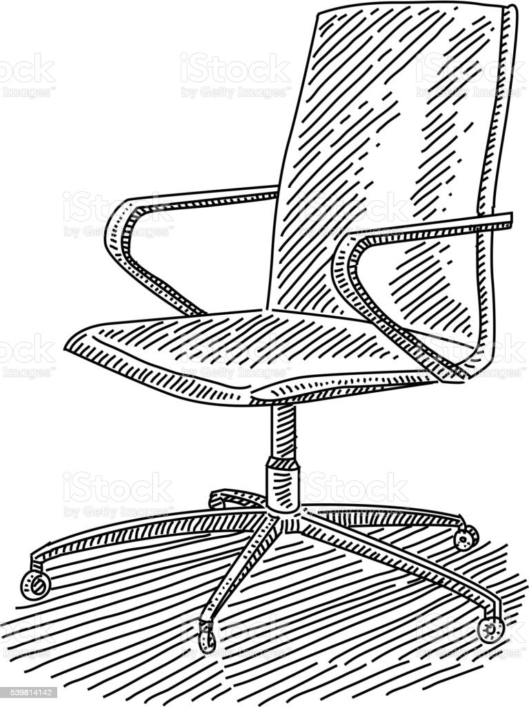 office chair drawing royalty free stock vector art