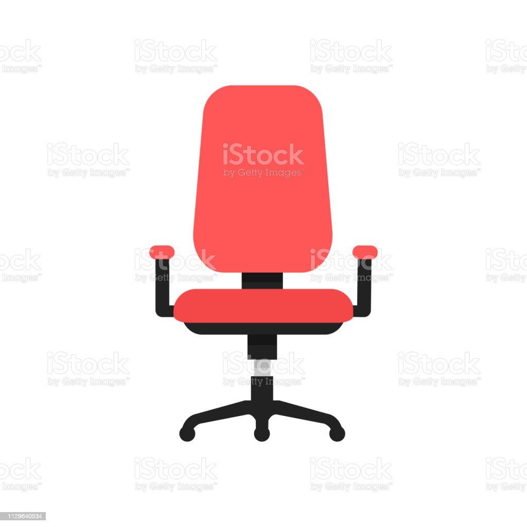 Chaise Blanc Plat Icon Isolé Bureau Vecteurs Sur Design Vector f6vIb7ygYm