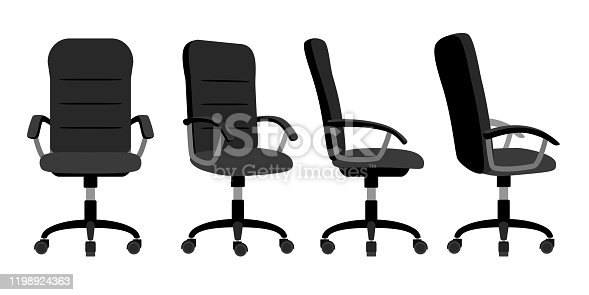 istock Office chair front and back 1198924363