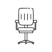 istock Office chair icon in line style. Business furniture icon for perfect office design in web and mobile applications. 1270871458