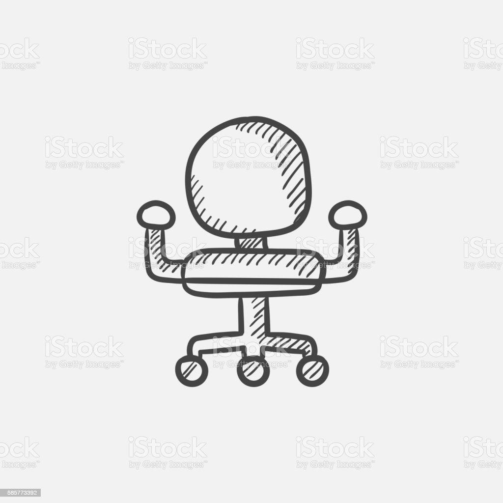 Bürostuhl skizze  Bürostuhl Skizzensymbol Vektor Illustration 585773392 | iStock