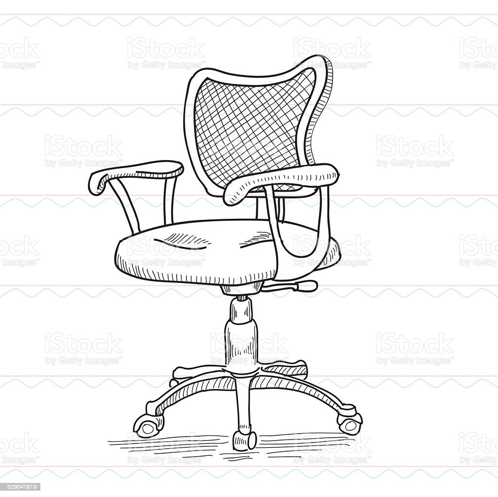 Office Chair Swivel Chair Computer Chair Stock Illustration