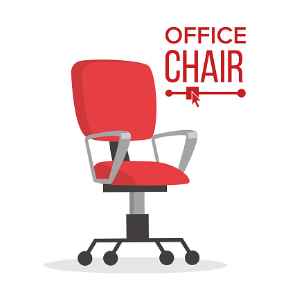 Office Chair Vector Business Manager Empty Seat For ...
