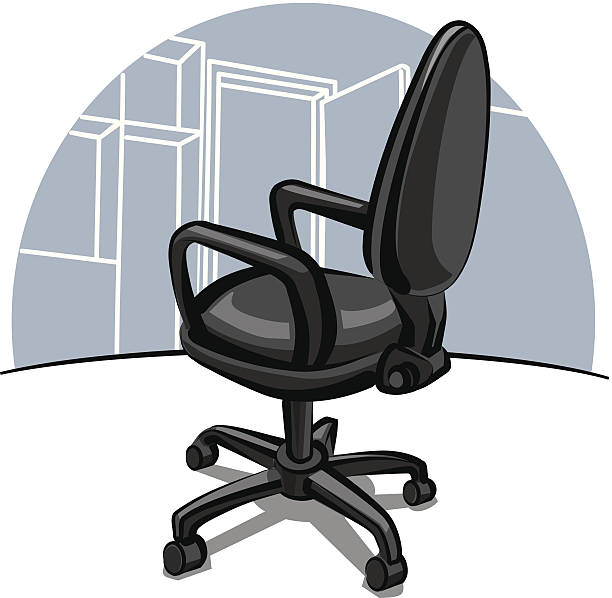bürostuhl - stuhllehnen stock-grafiken, -clipart, -cartoons und -symbole