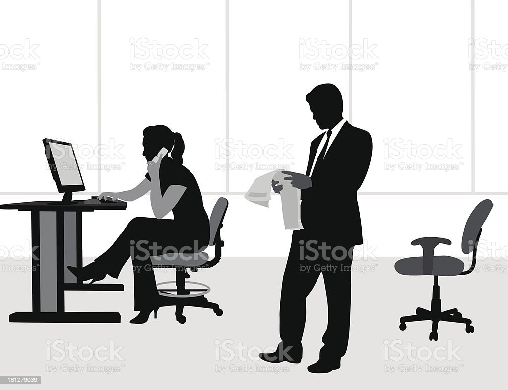 Office Chair royalty-free stock vector art