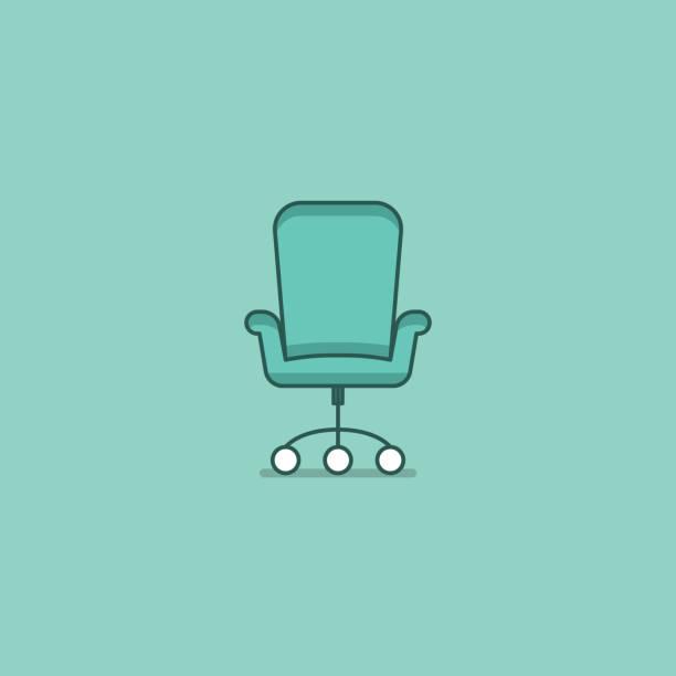 Office chair vector Office Chair, Chair, Armchair, Desktop PC, Equipment office chair stock illustrations