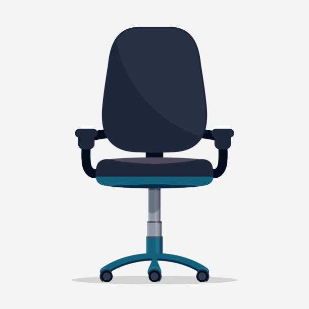 office chair vector - fahrzeugsitz stock-grafiken, -clipart, -cartoons und -symbole