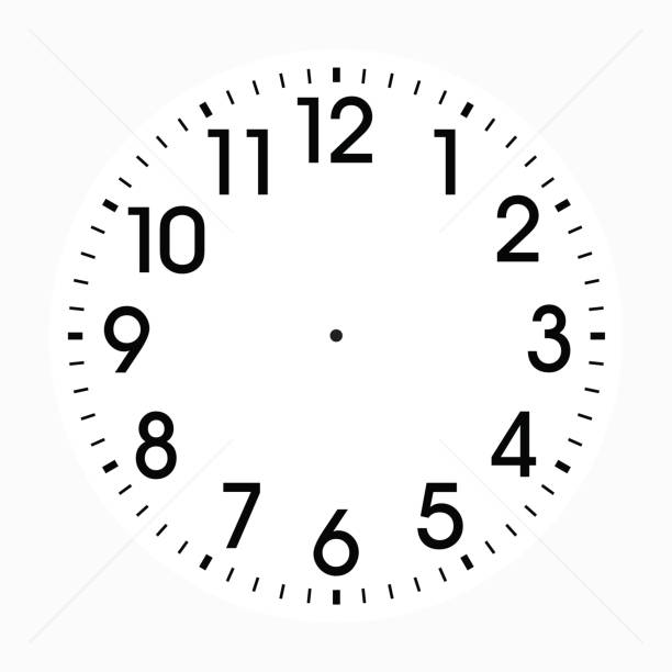 office clock icon design - clock face stock illustrations, clip art, cartoons, & icons