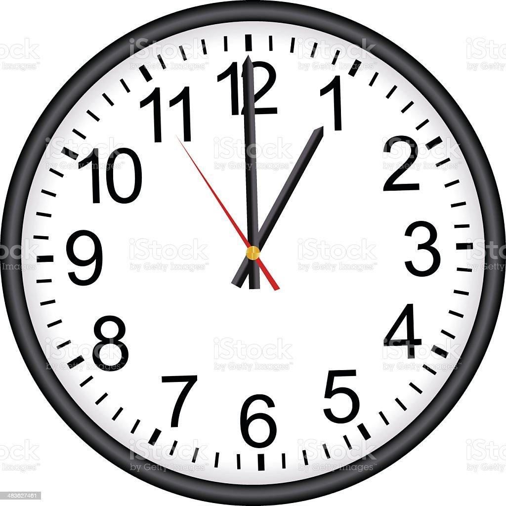 Office Clock vector art illustration