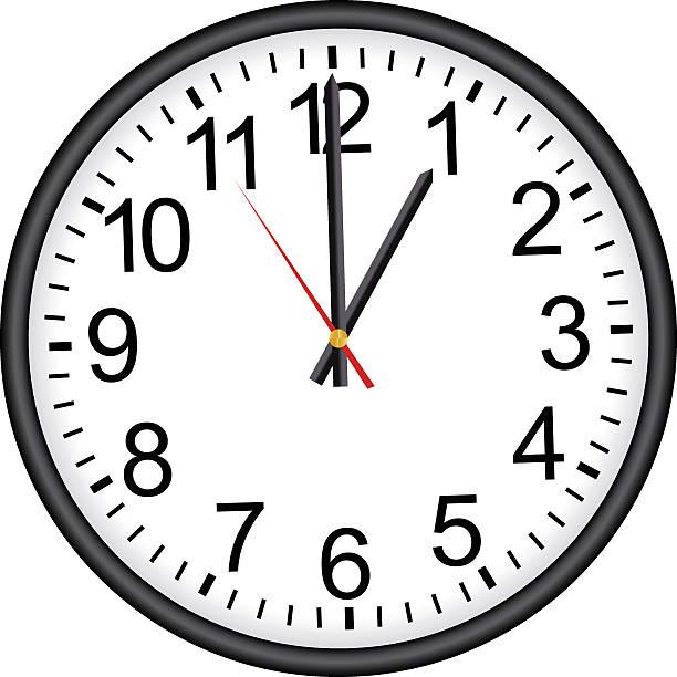office clock - clock face stock illustrations, clip art, cartoons, & icons