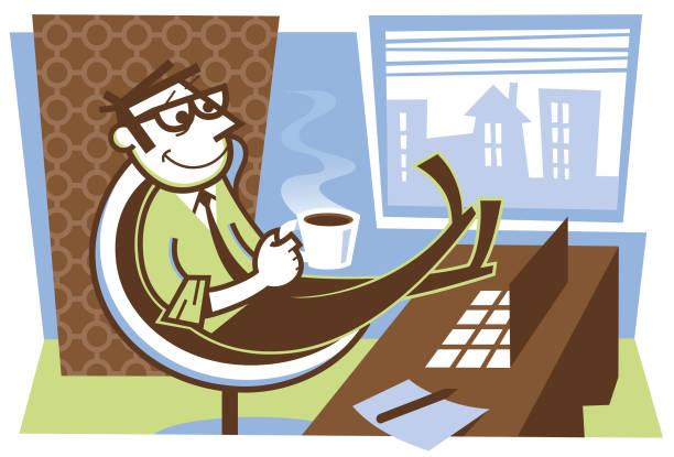 office coffee - peter bajohr stock illustrations
