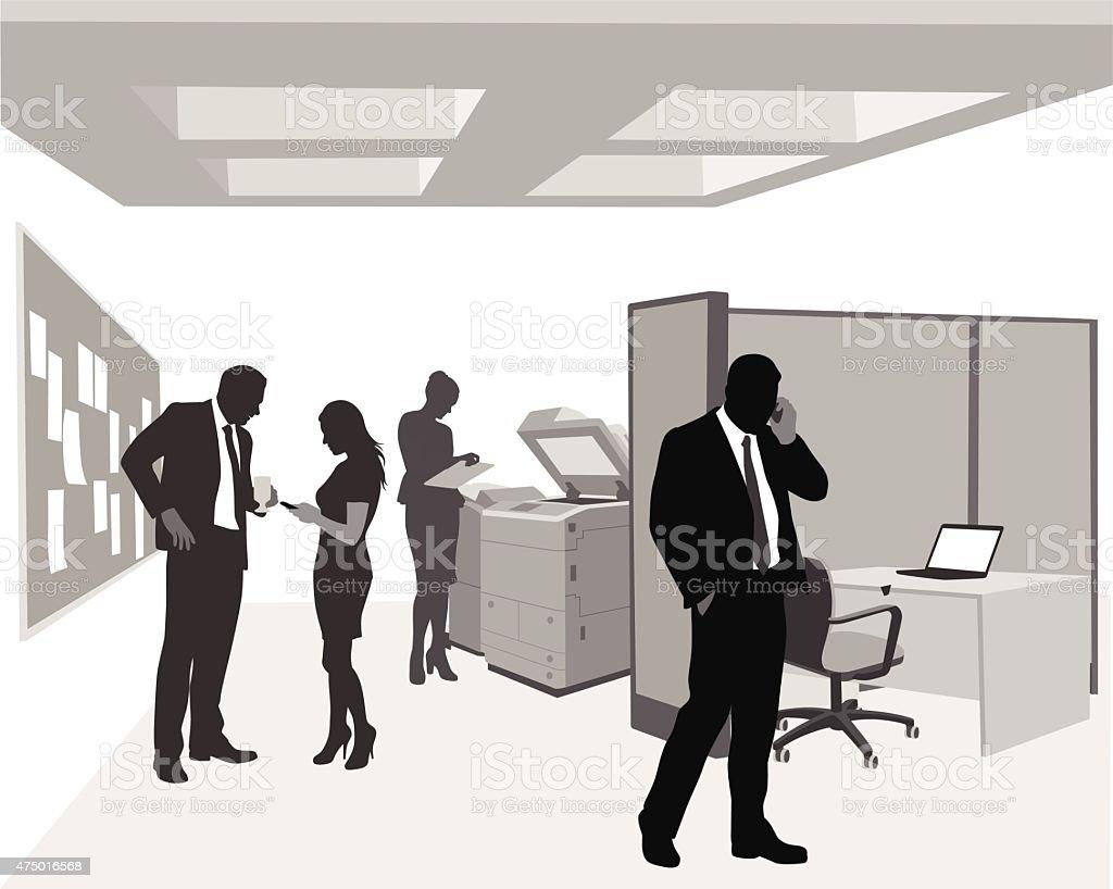 Büro-Kommunikation – Vektorgrafik