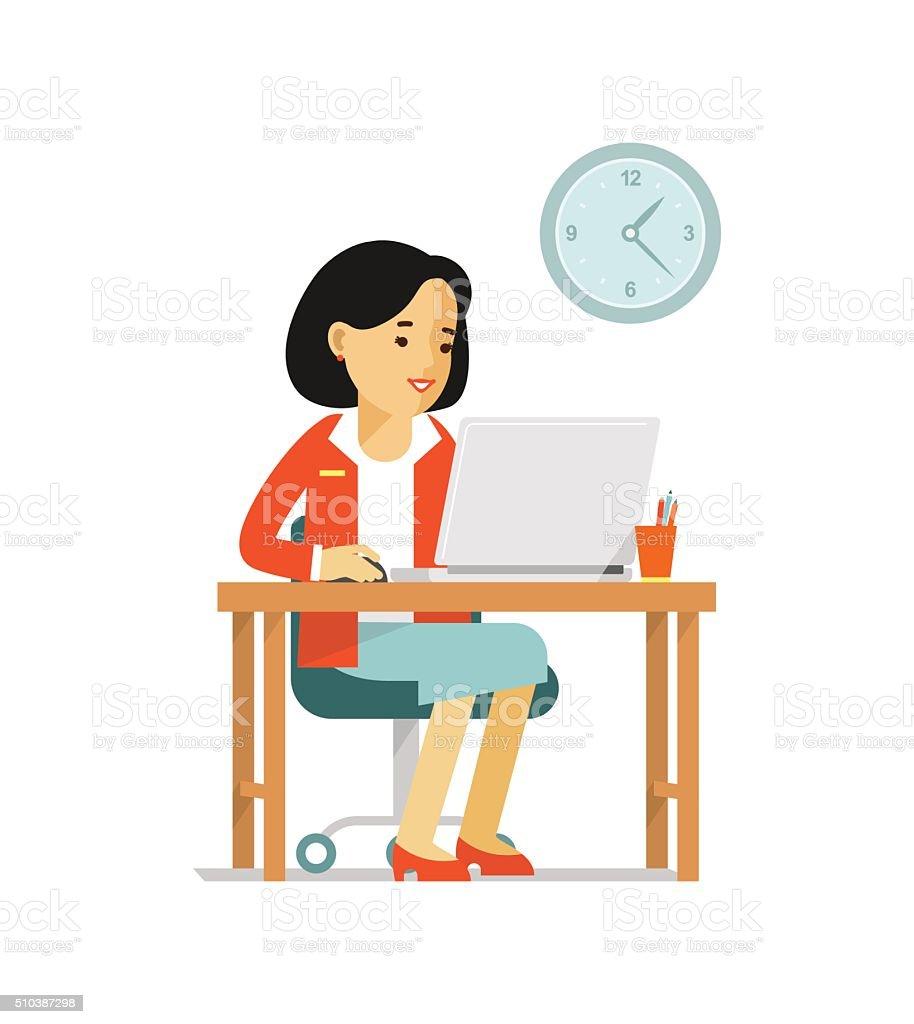 Ilustraci n de computadora internet concepto de trabajo de for Oficina de empleo online