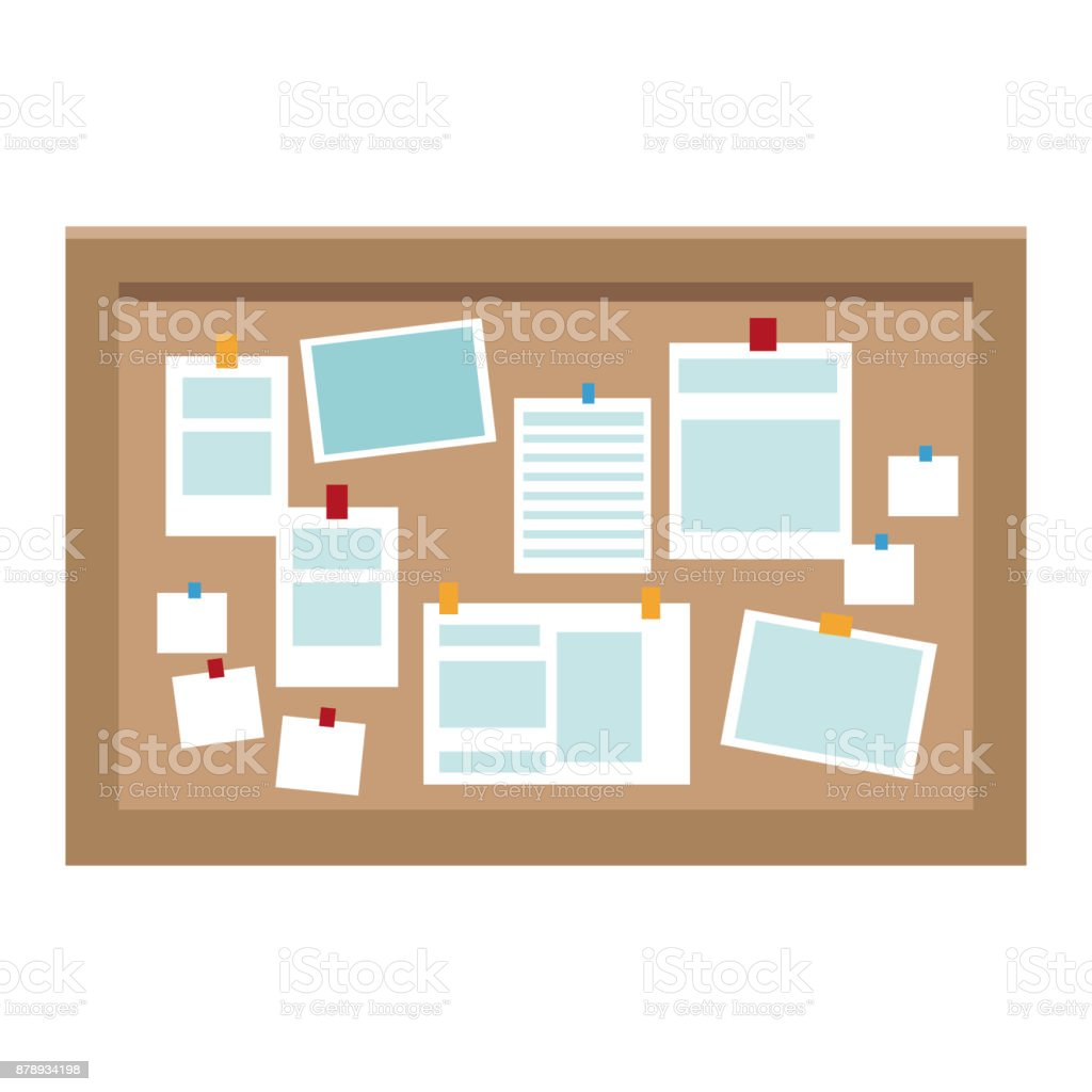Office Cork Board Royalty Free Stock Vector Art