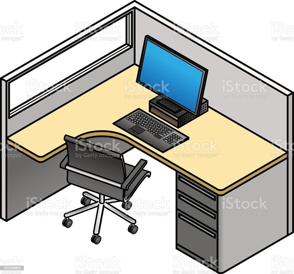 cabine de bureau cliparts vectoriels et plus d 39 images de bureau ameublement 522358601 istock. Black Bedroom Furniture Sets. Home Design Ideas