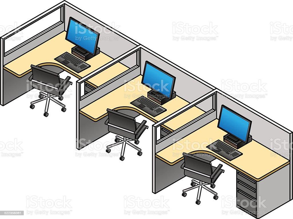 Ilustración de Cubículos De Oficina y más banco de imágenes de ...