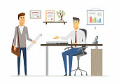 Office Day - modern vector cartoon business characters illustration