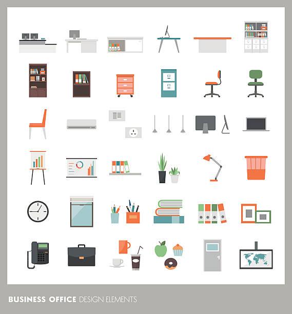Office design elements - Illustration vectorielle