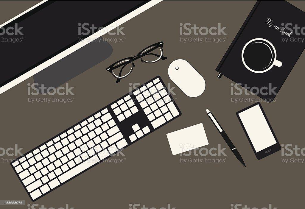 Office Desk royalty-free stock vector art