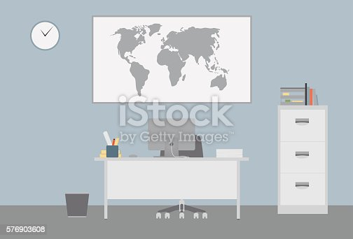 Flat Office Desk and Furniture