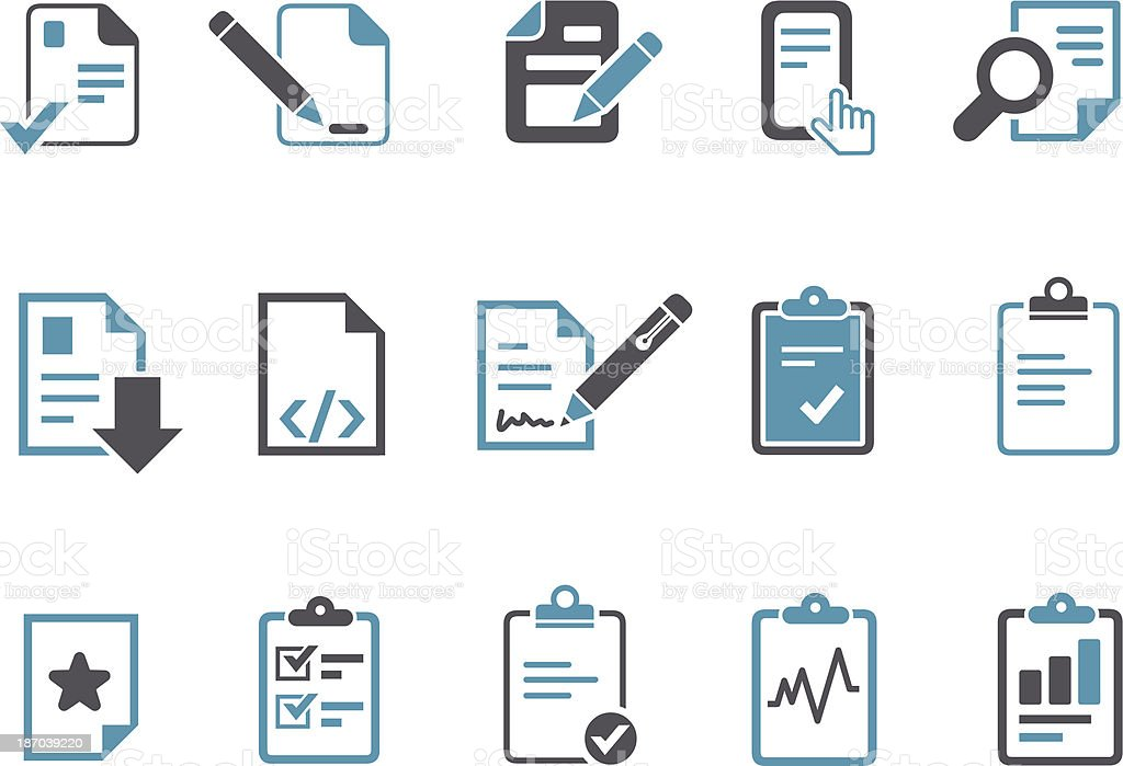 Office docs Icon Set vector art illustration