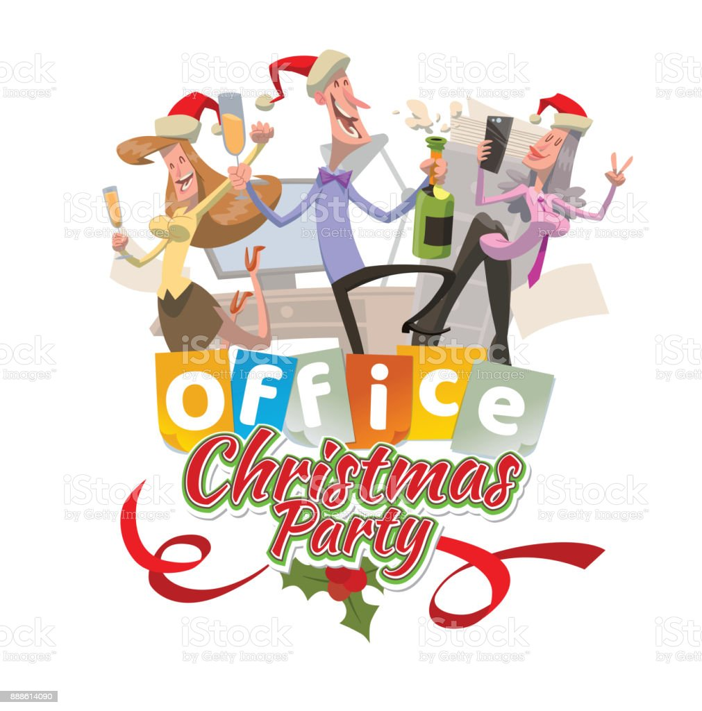 Office Christmas Party Clip Art - Awesome Graphic Library •