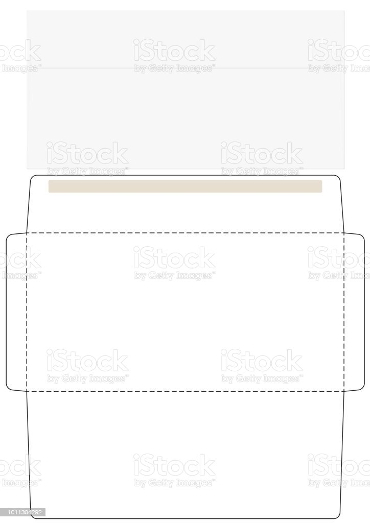 office envelope cut up template stock vector art more images of