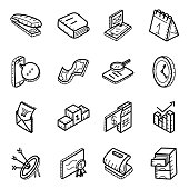 istock Office Equipment Hand Drawn Vectors Pack 1178280596