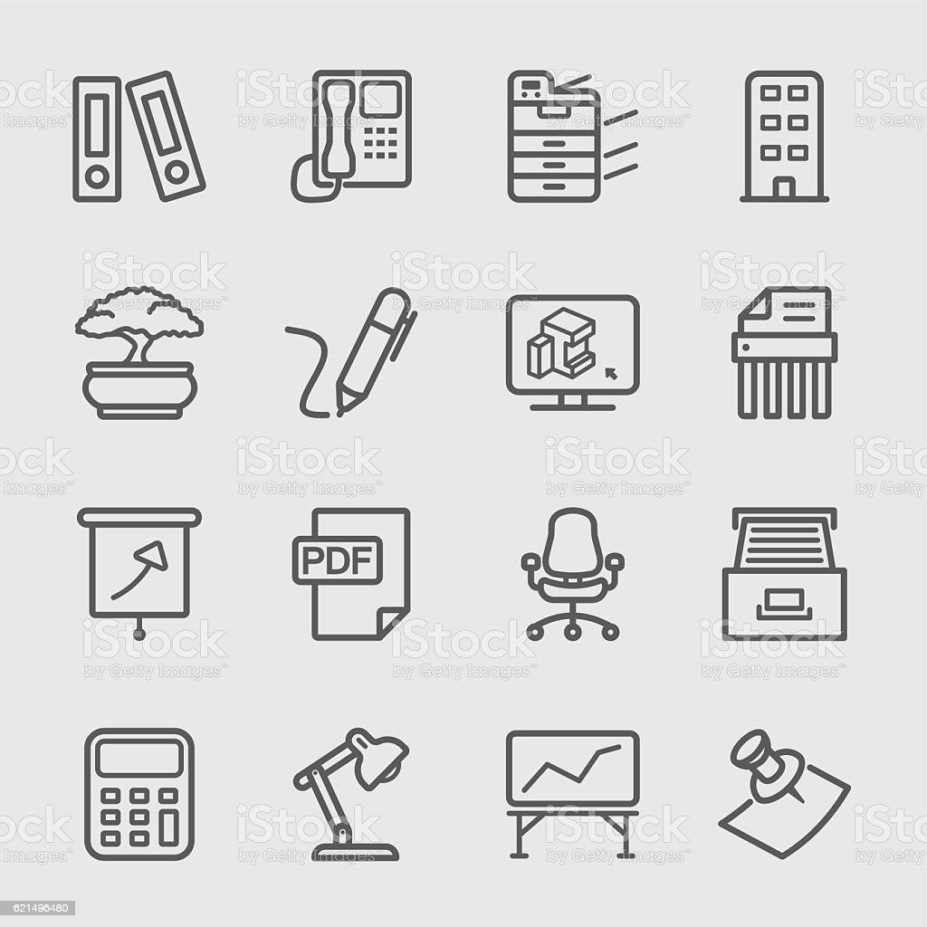 Office equipment line icon office equipment line icon - immagini vettoriali stock e altre immagini di affari royalty-free
