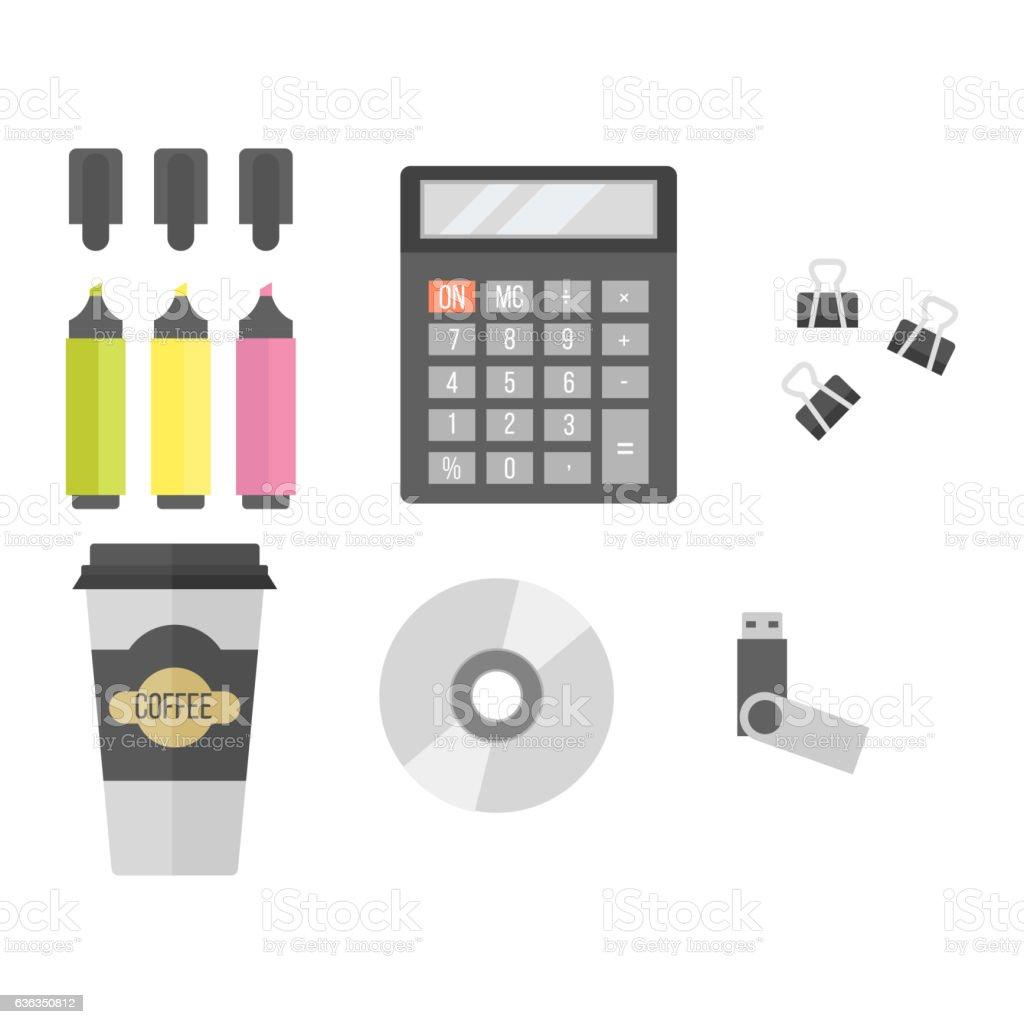 Office equipment vector vector art illustration