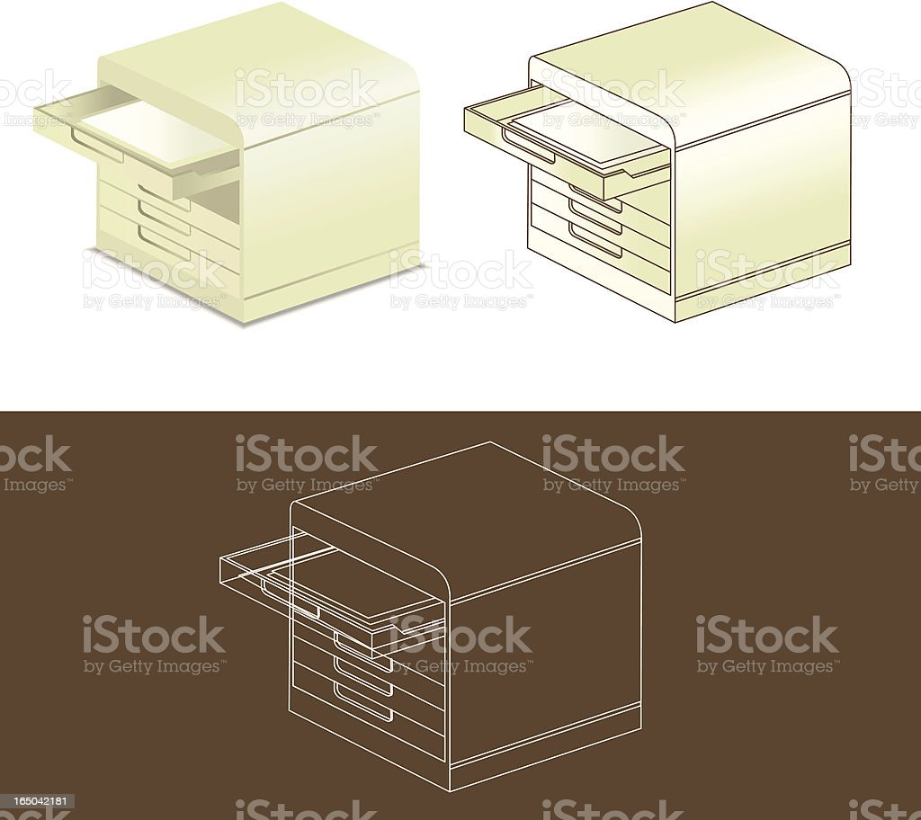 Office filing cabinet royalty-free stock vector art