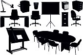 Office Furniture Silhouettes