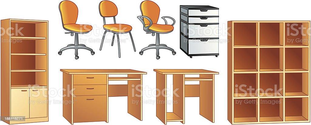 Mobili Per Ufficio Illustrazione Vettoriale Di Oggetti Immagini Vettoriali Stock E Altre Immagini Di Affari Istock