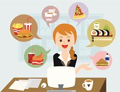 office girl with lunch ideas