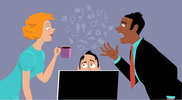 Office gossip vector art illustration