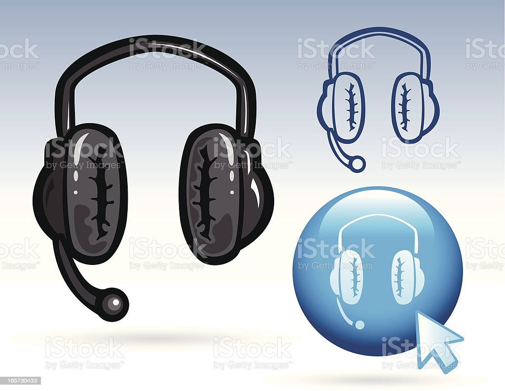 Office Icon - Headphones royalty-free office icon headphones stock vector art & more images of audio electronics