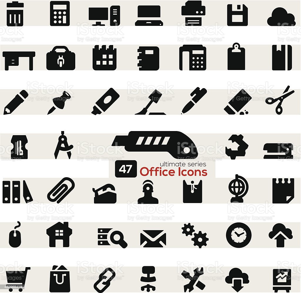 Office Icon Set royalty-free stock vector art