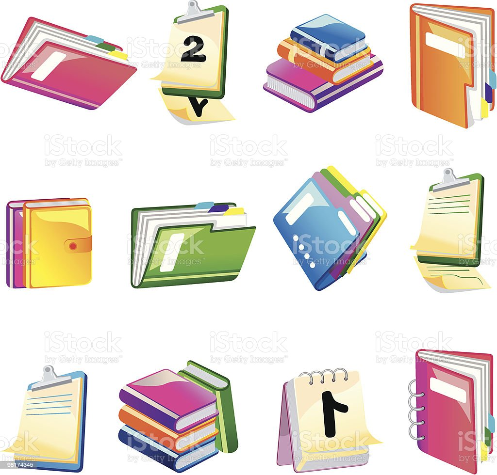 Office icons 3D royalty-free office icons 3d stock vector art & more images of book