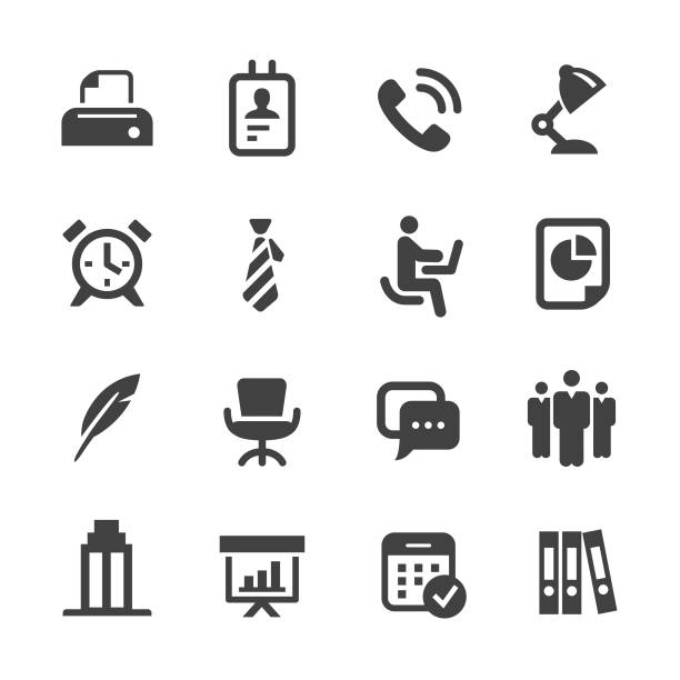 Office Icons - Acme Series Office, Business, office chair stock illustrations