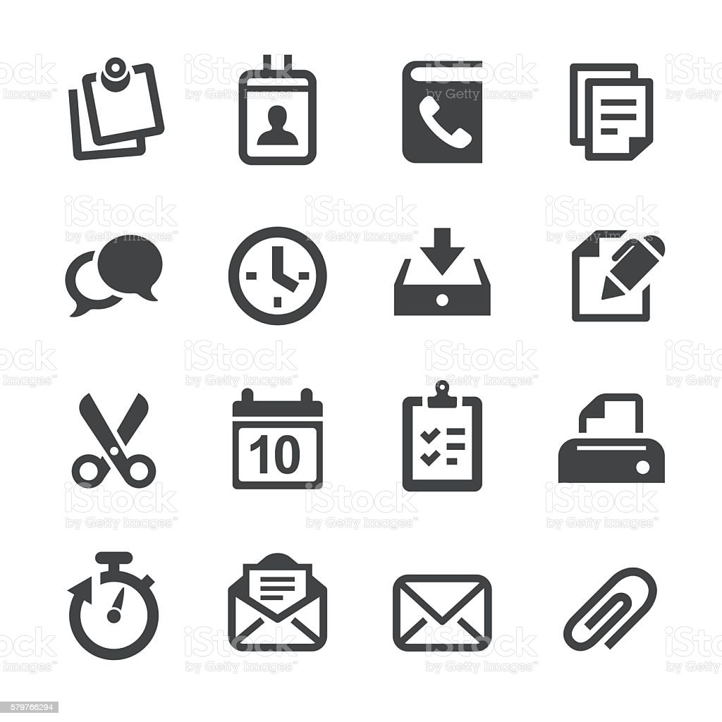 Office Icons - Acme Series vector art illustration